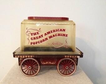 1976 Sunbeam The Great American Popcorn Machine Electric Corn Popper