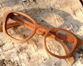 Cherry wood COVER-M handmade wooden vintage style eyeglasses sunglasses