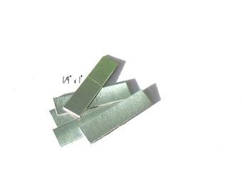 1/4 x 1 -  24g - Aluminum rectangles - rectanle blanks -hand stamping blanks -metal blanks 5 or more