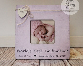 godmother picture frame baptism picture frame worlds best godmother frame personalized baptism picture frame