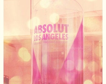 Absolut Los Angeles photo, LA photography, pink decor, LA print, girlie, nightlife, vodka, Hollywood, purple, bar art, La La Land series