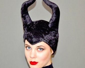 MALEFICENT HORNS-  Handmade Headpiece -- Ready To Ship