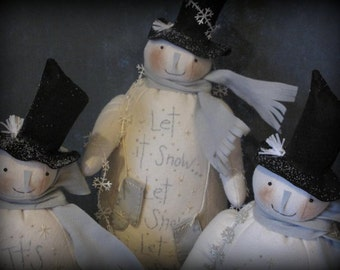 White Christmas Snowmen E-PATTERN by cheswickcompany
