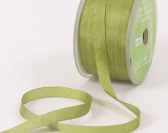 "4 Yards Narrow 1/4"" wide MOSS Green SILK  Ribbon Trim  cheswickcompany"