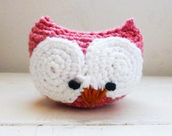 Owl stuffed animal, Big eyed owl doll, crochet owl, ready to ship, hand crochet, plush owl doll, desk sitter, cute crochet owl, owl decor