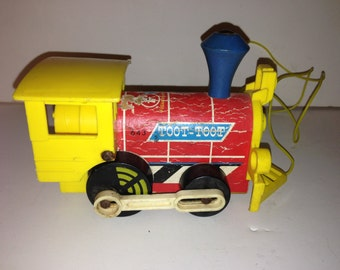 Vintage 1964 Toot Toot Fisher Price Train