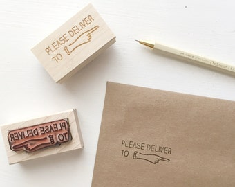 Please Deliver To Rubber Stamp