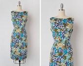 vintage 1960s dress / 1960s floral dress / floral cotton dress / Elysium Way dress