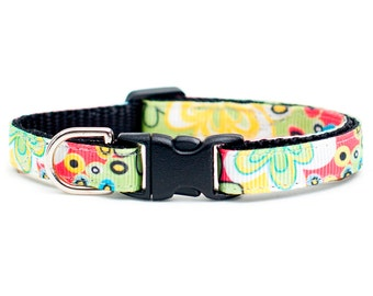 "Cat Collar - ""The Groovy"" - Retro Print"