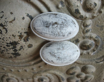 2 Oval Knobs Distressed Custom Farmhouse Brass Hardware Custom Colors B-18