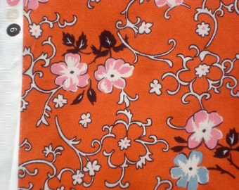 Richmond flowers vines orange DS Quilts Denyse Schmidt fabric  FQ