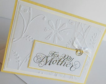 Mothers Day Greeting Cards:  Handmade Blank Note Card - Gentle Breeze