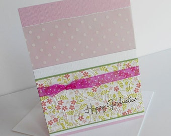 Graduation Greeting Cards: Handmade Blank Note Card - Spring In Your Steps