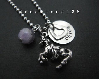 Horse Jewelry, Horse Necklace, Personalized Horse Necklace, Animal Jewelry, Horse Jewelry- gifts for best friends, Birthday present