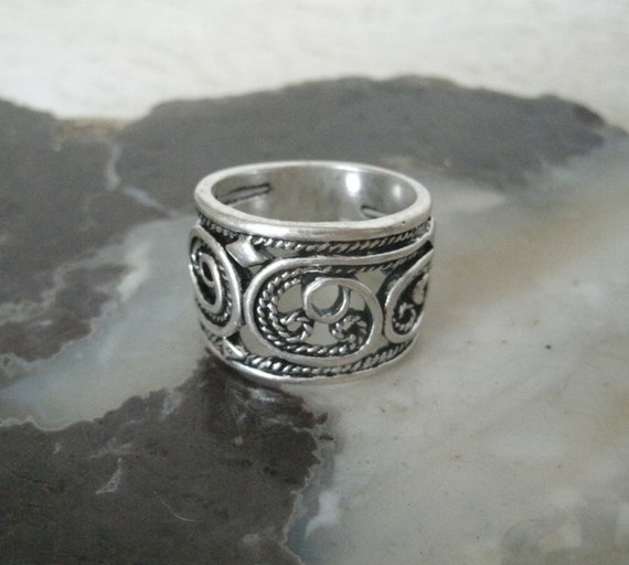 celtic spiral ring wiccan jewelry pagan jewelry wicca jewelry