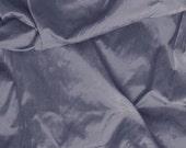 Silk Dupioni Fabric - bluish grey 100% pure silk - fat quarter - sld002