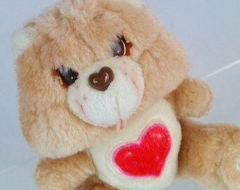 Tender Heart Bear Care Bears Mini 6 inch push Tan Brown small teddy