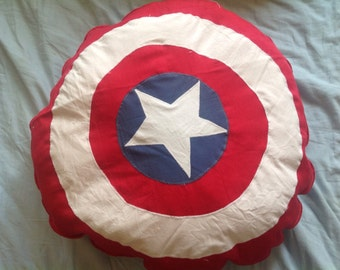 Captain America Cozy Pillow Big, Soft and Adorable, 50cm in diameter