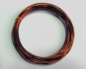 WIRE  24 gauge 25 ft. non tarnish round brilliant  Antique Copper Inspire Wire