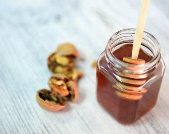 Honey Walnut Caramels 8oz 1/2 LB Handmade Half Pound