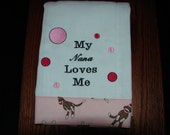 Burp Cloth, Diaper Burp Cloth, My Nana Loves Me