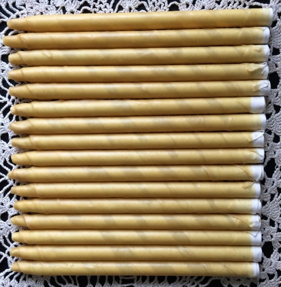 EAR CANDLES ORGANIC  Beeswax(Qty. 16) Double Dipped