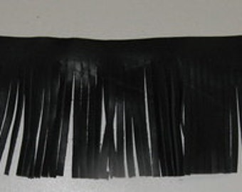 Leather fringe 3 1/4 x 1 foot