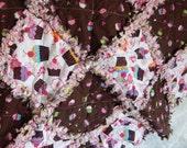 Cute Cupcake baby girl rag quilt
