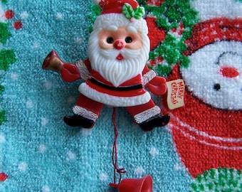 little jumping santa pin