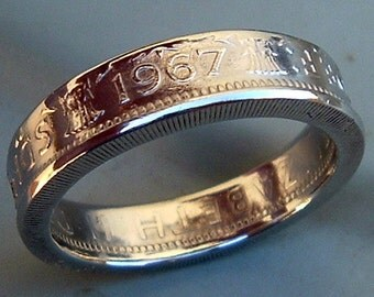 British Two Shilling Coin Ring (Available in sizes 8.5 through 12)