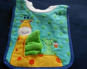 Giraffe with Washcloth, over the head bib
