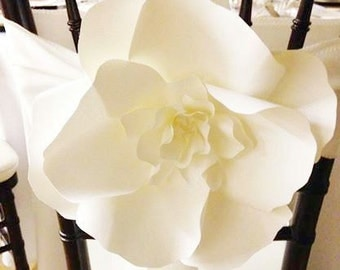 AS SEEN ON Wedding Bells Magazine - 10 Large Paper Flowers - Decorative Chair - Aisle Decor Paper Flower