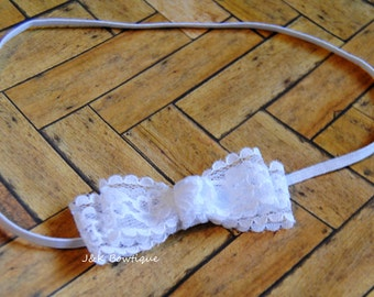 Dainty Lace Headband...white