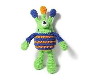Monster Plush Toys - Alien Doll - Monster Doll - Space Theme Nursery - Monster Plushie - Monster Crochet - One Eyed Alien - Stuffed Monster