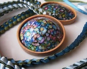 Multi-color Magick Marbled Egg Necklace