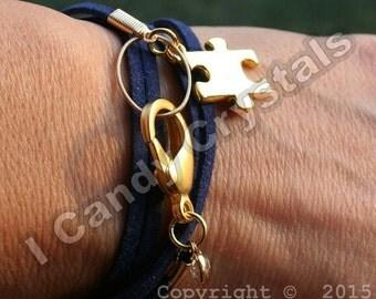 Initials Autism Awareness Bracelet