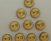 Angry Icon - Use for earring stud - EAR014