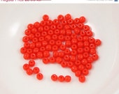 ON SALE Opaque Red 3mm Round Czech