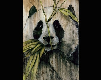 Panda PRINT Limited Edition Signed Artwork -- Only 100 Signed -- Ghosts and Giants