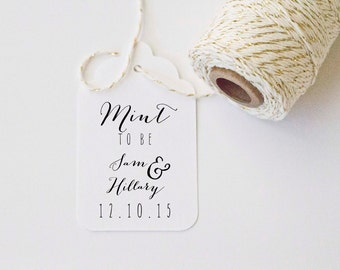 Mint to Be Wedding Favor Stamp Shower Favor Wedding Custom Personalized Stamp