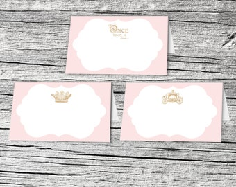 Once Upon a Time Princess Tented Food/Place Cards