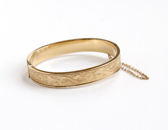 Bangle Bracelets Gold Overlay Vine Gold Overlay Bracelet