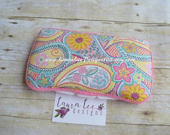 Pastel Floral Paisley Travel Baby Wipe Case, Diaper Wipe Case, Personalized Wipecase, Baby Shower Gift, Wipe Holder, Diaper Bag Wipe Clutch
