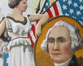 Vintage Postcard George Washington First President of the United States