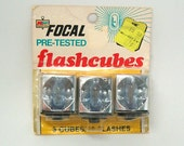 Vintage Focal Flash Cubes, NOS in original package