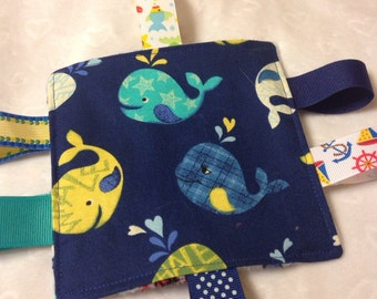 Whale Nautical Baby Crinkle Toy