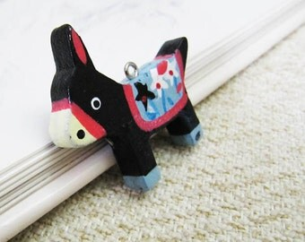 CLEARANCE SALE: Wooden Donkey Totem - 2pc