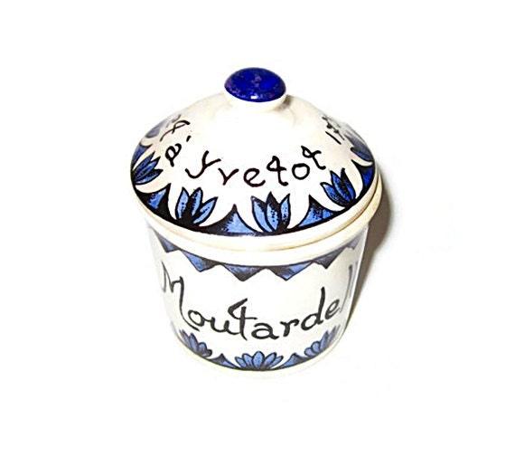 À Yvetot Trois Blessés Après La Chute D Un Balcon: Vintage Moutarde Bocquet Yvetot 1735 Pot Moutarde Par