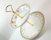 2 Tier Cake Plate Cupcake Cookie Plate Tidbit Plate Wedding Plate