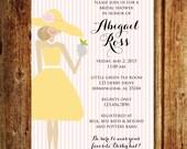 Derby Bridal Shower Invitation; Kentucky Derby Hat Bridal Shower Invitation